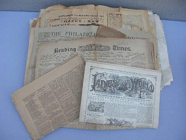 4: 68 Reading & Philadelphia Newspapers 1880-1890