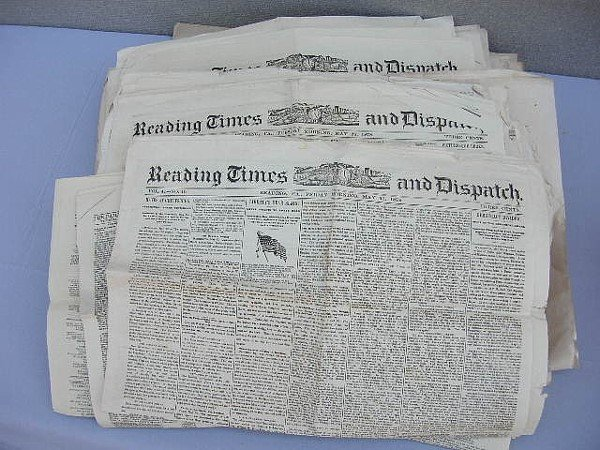 7: 109 Reading & Berks Cty Newspapers 1878-1880
