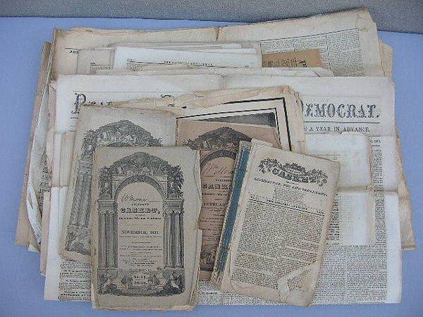 8: 26 Berks & Philadelphia Newspapers 1830's-1860's