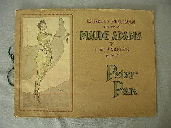 15: 1907 Barrie's Peter Pan Play Book Maude Adams
