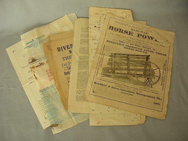 18: Lot Adv Broadsides & Booklet 1855-1894