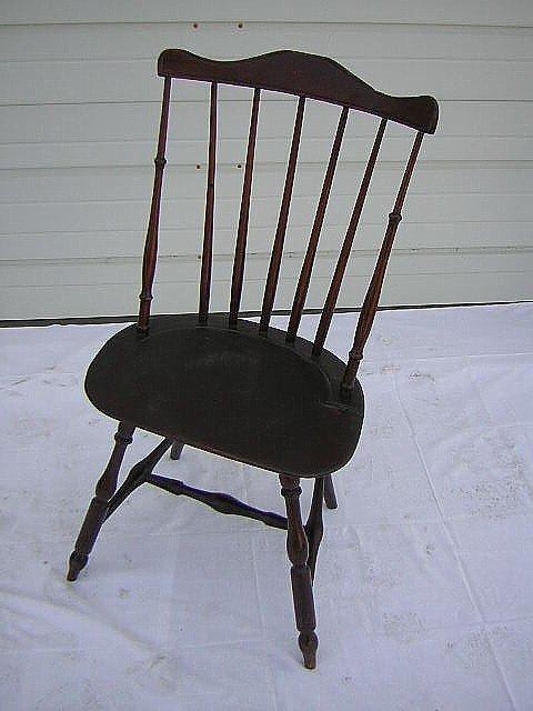 248: C 1790-1800 Fanback Windsor Side Chair