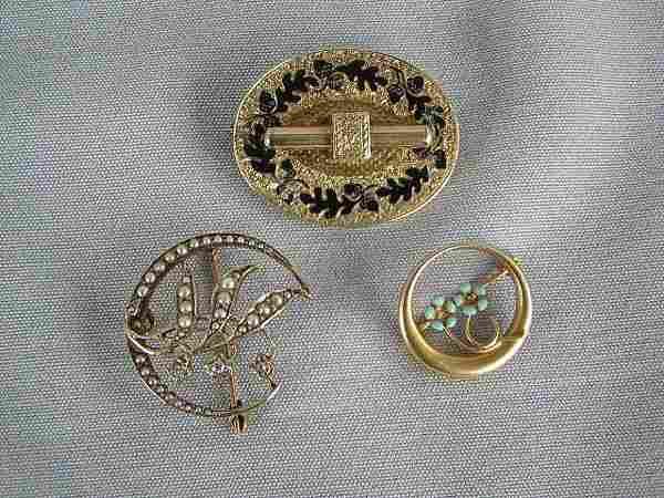 3 Victorian Pins