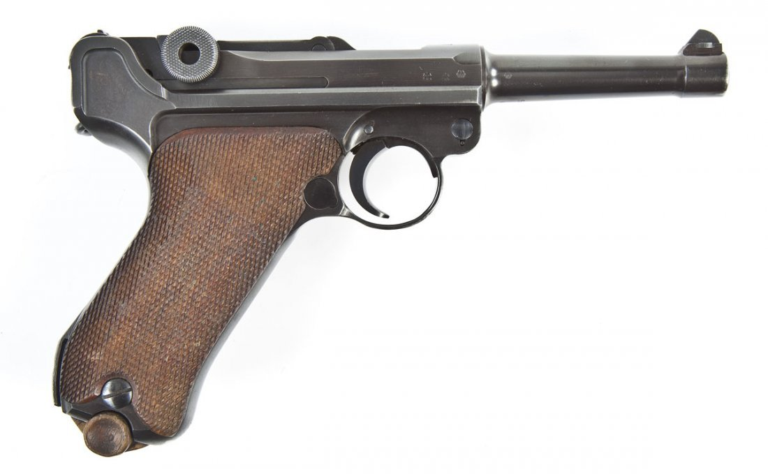7: German Luger P-08 Pistol - 9mm Caliber