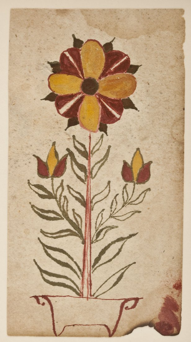 8: Early 19th Century Fraktur Drawing
