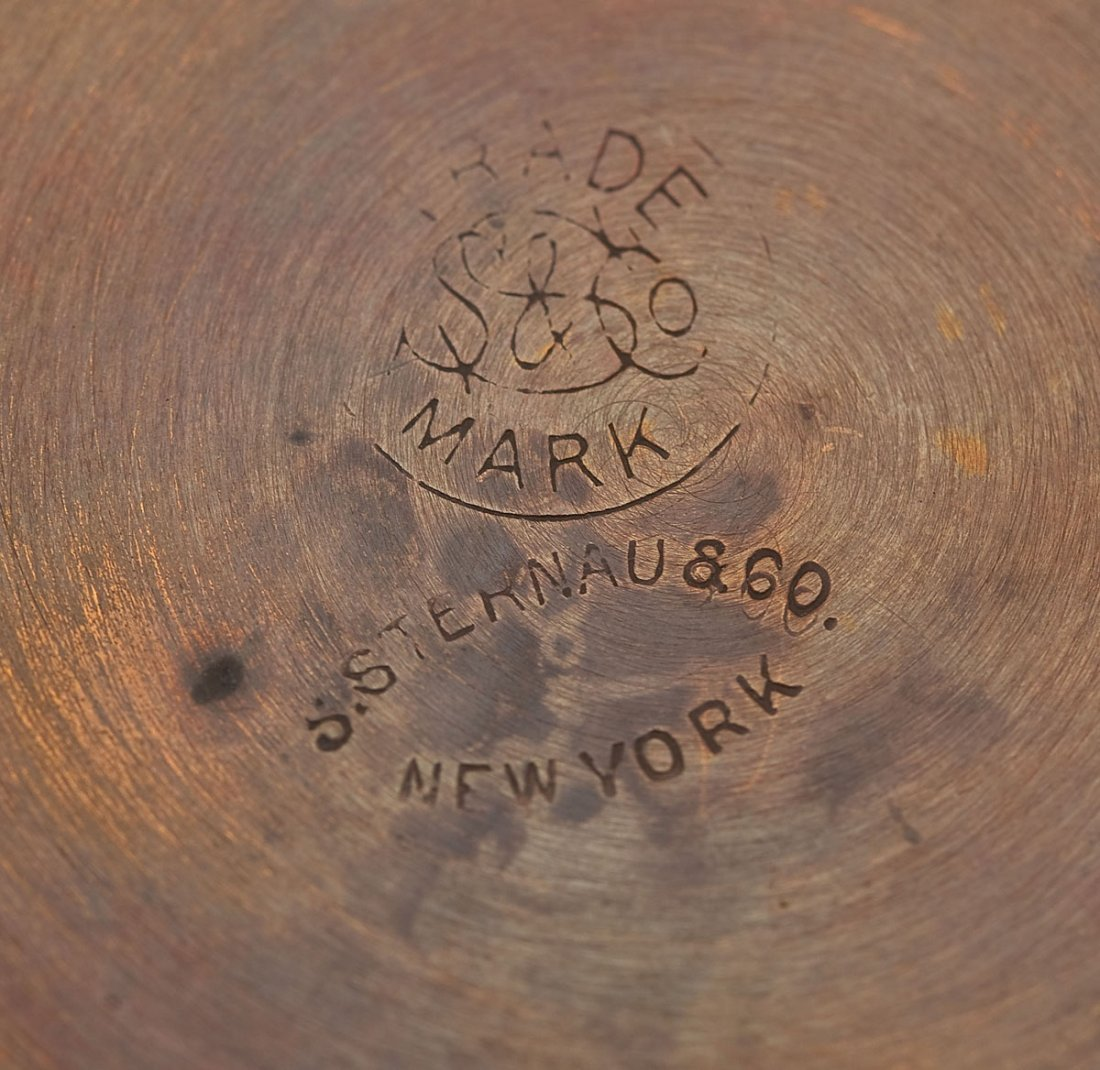 118: S. Sternau & Co. Copper Chafing Dish and Tray - 5