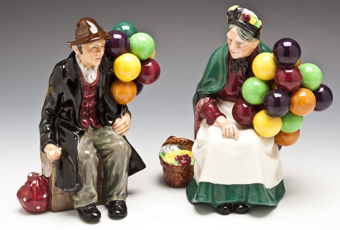 376: Royal Doulton Balloon Man & Balloon Seller Figures