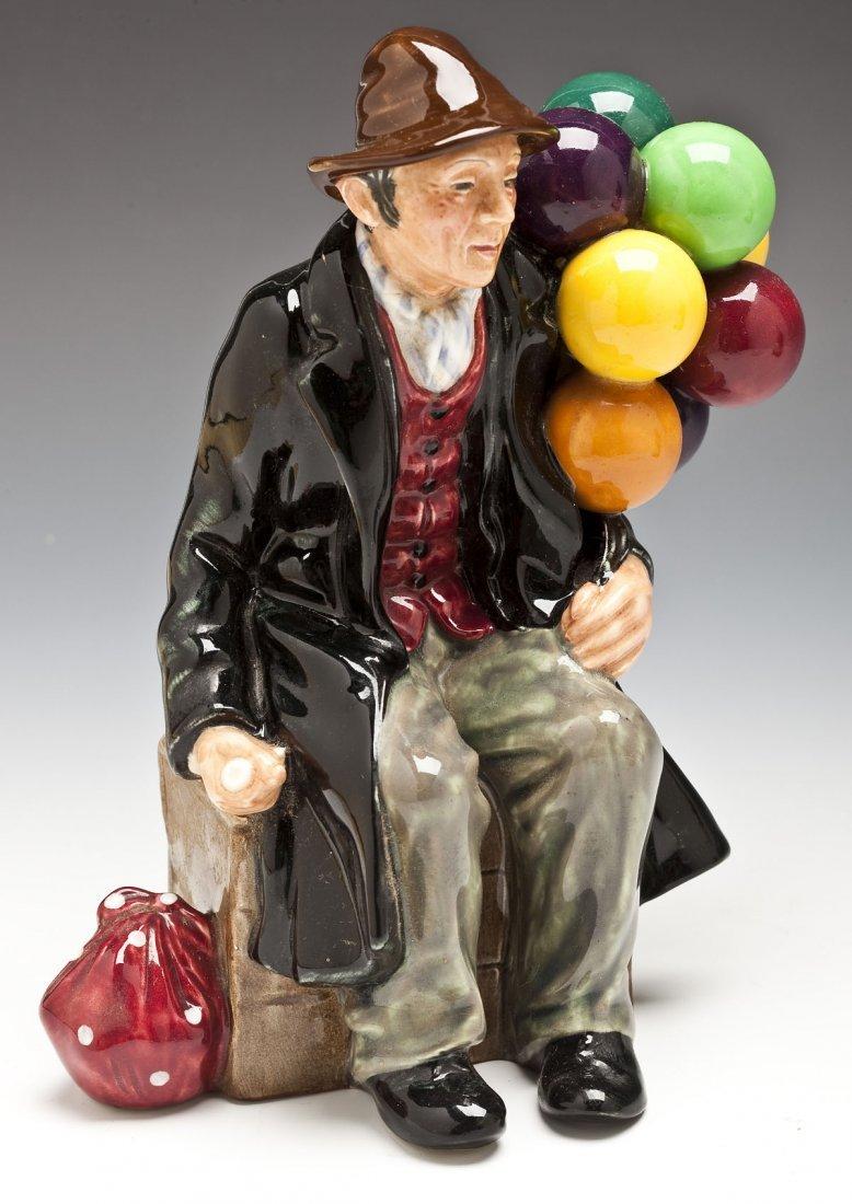376: Royal Doulton Balloon Man & Balloon Seller Figures - 2
