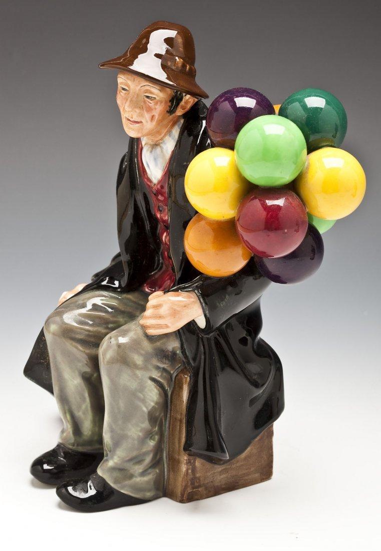 376: Royal Doulton Balloon Man & Balloon Seller Figures - 4