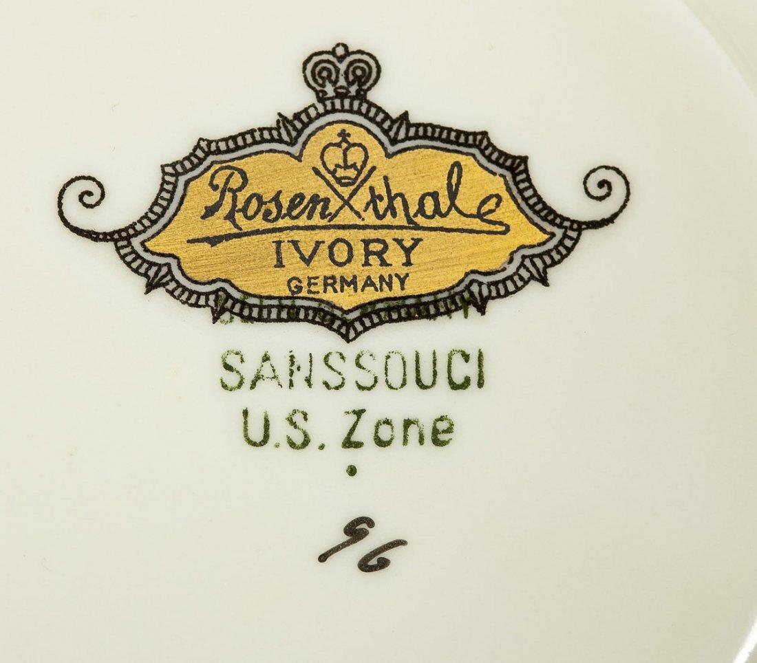 389: Rosenthal 74 Pc Sanssouci Rose Dinner Set - 7