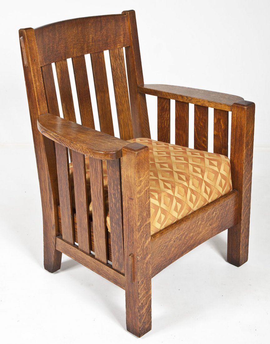 453: Mission Oak Chair Attributed to Stickley