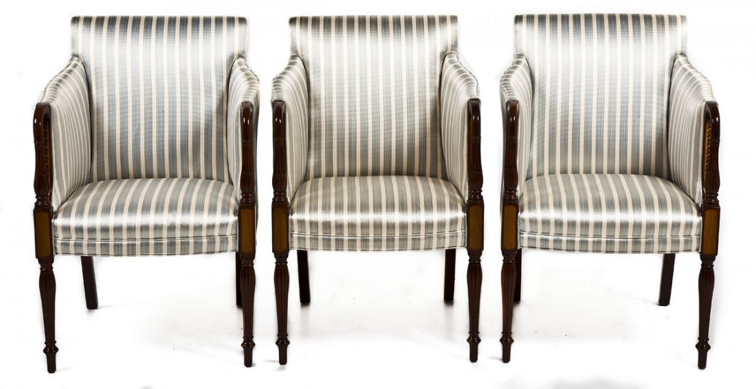 462: 3 Federal Style Arm Chairs