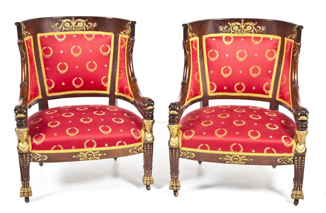 467: Pair of French Empire Armchairs