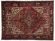 523: Semi-Antique Persian Heriz Room Size Rug