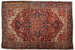 524: Semi-Antique Persian Heriz Room Size Rug