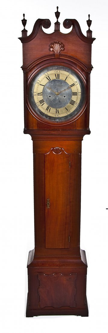 835: Isaac Thomas Chester County PA Tall Case Clock