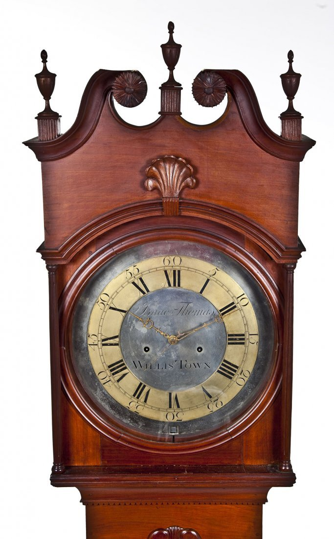 835: Isaac Thomas Chester County PA Tall Case Clock - 2