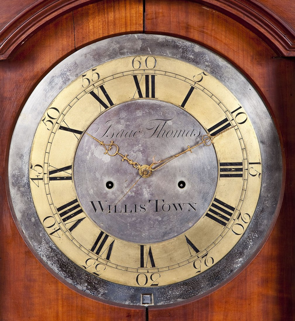 835: Isaac Thomas Chester County PA Tall Case Clock - 3