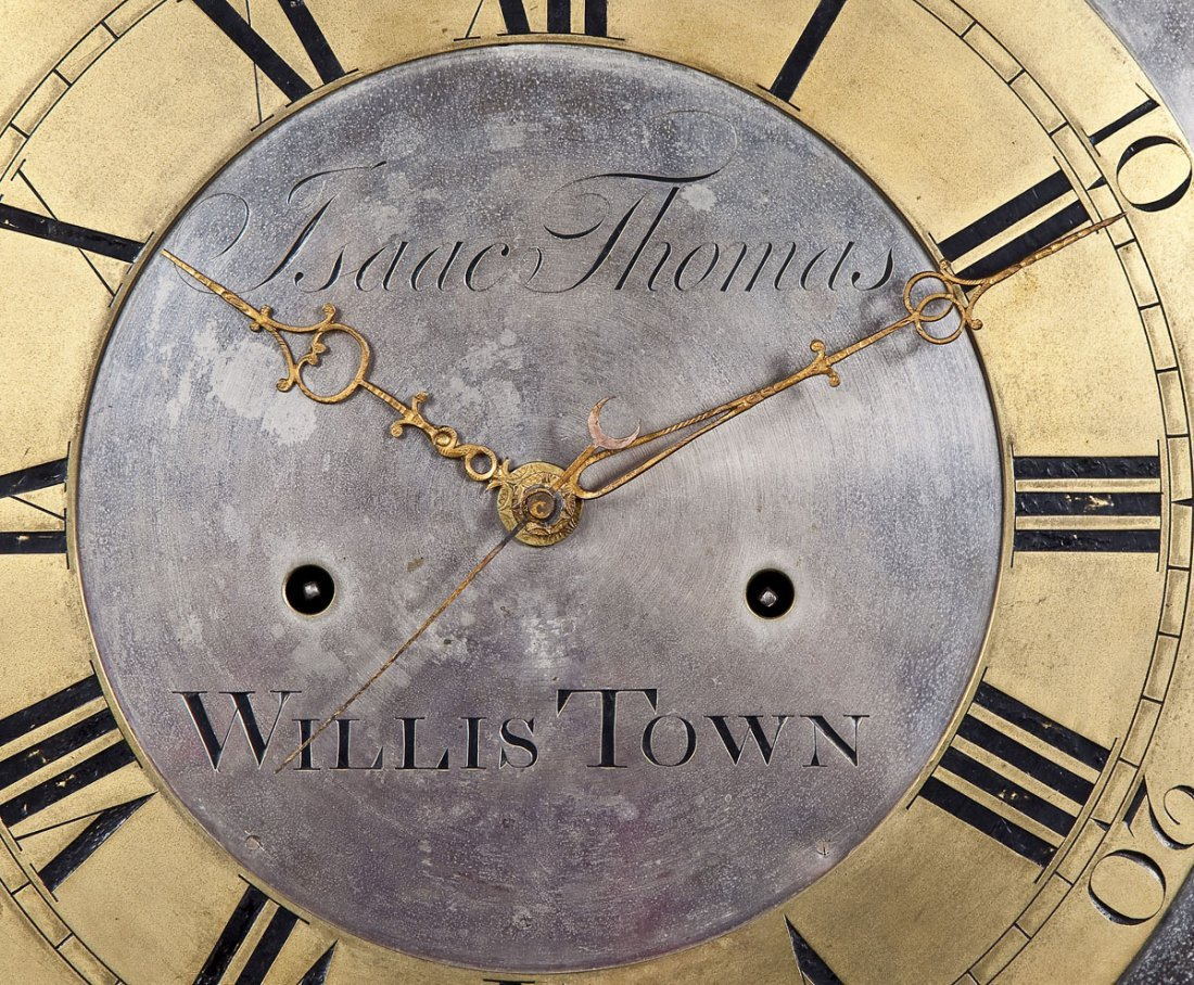 835: Isaac Thomas Chester County PA Tall Case Clock - 4