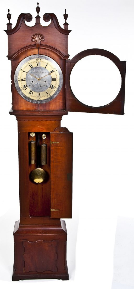 835: Isaac Thomas Chester County PA Tall Case Clock - 5
