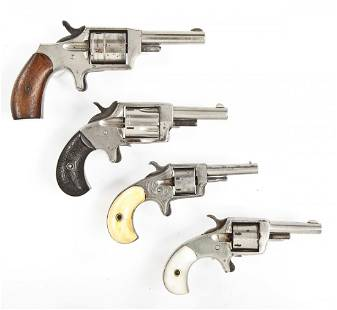 4 Misc. Spur Trigger Revolvers - .32 & .22 Cal.