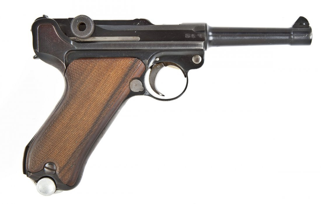 8: German Luger P-08 Pistol - 9mm Cal.
