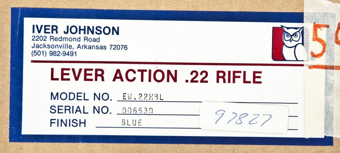 195: Iver Johnson Wagonmaster Lever Action - .22 Cal. - 6