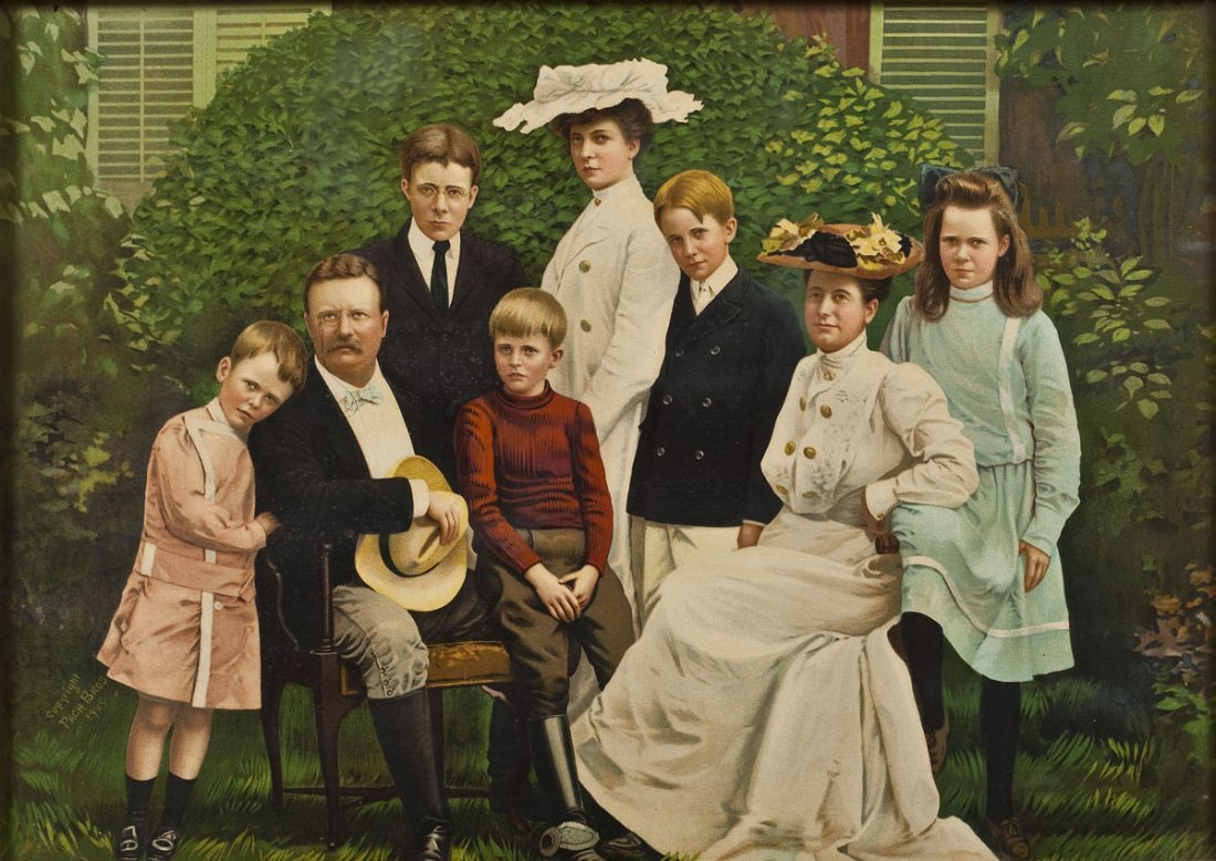 Pach Brothers Chromolithograph of Roosevelt Family