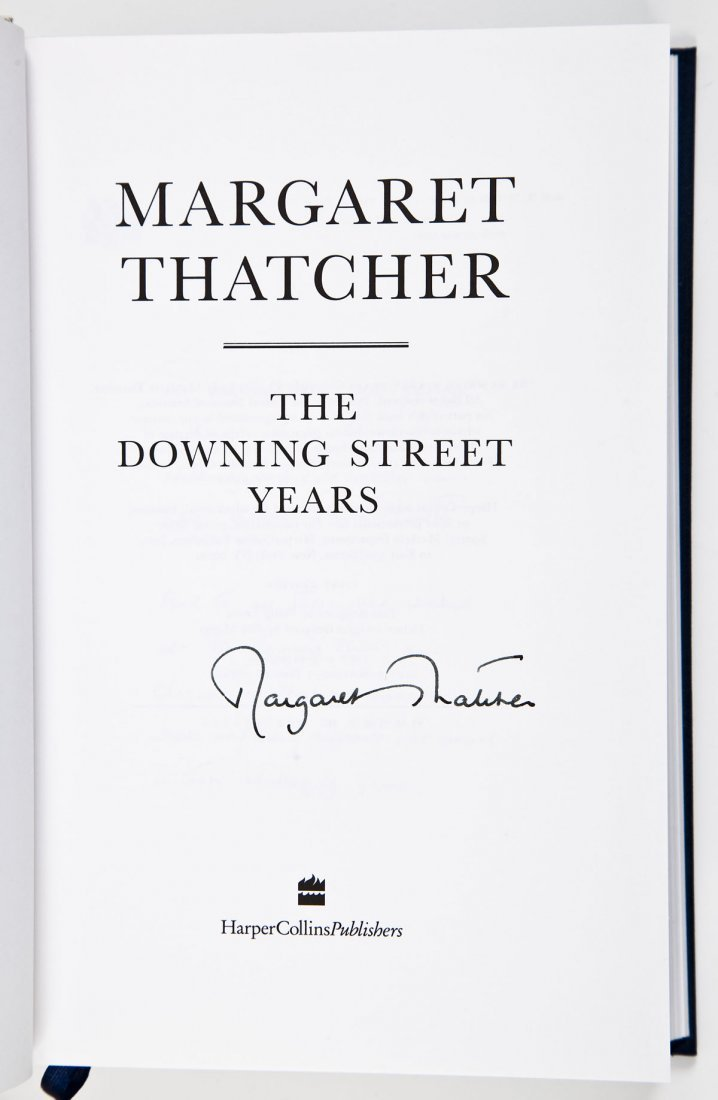 Margaret Thatcher Signed Downing Street Years