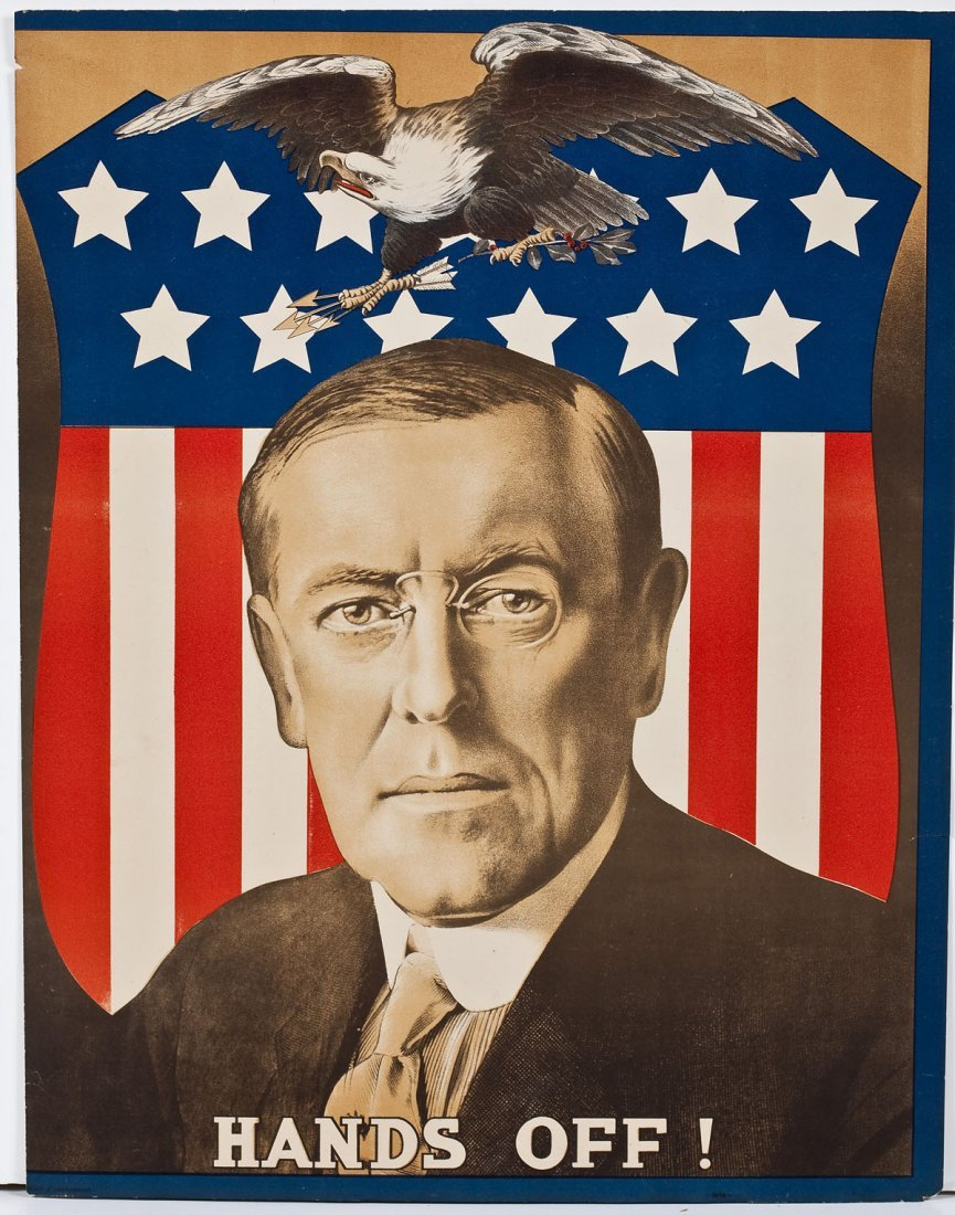 Woodrow Wilson Hands Off! Neutrality Poster