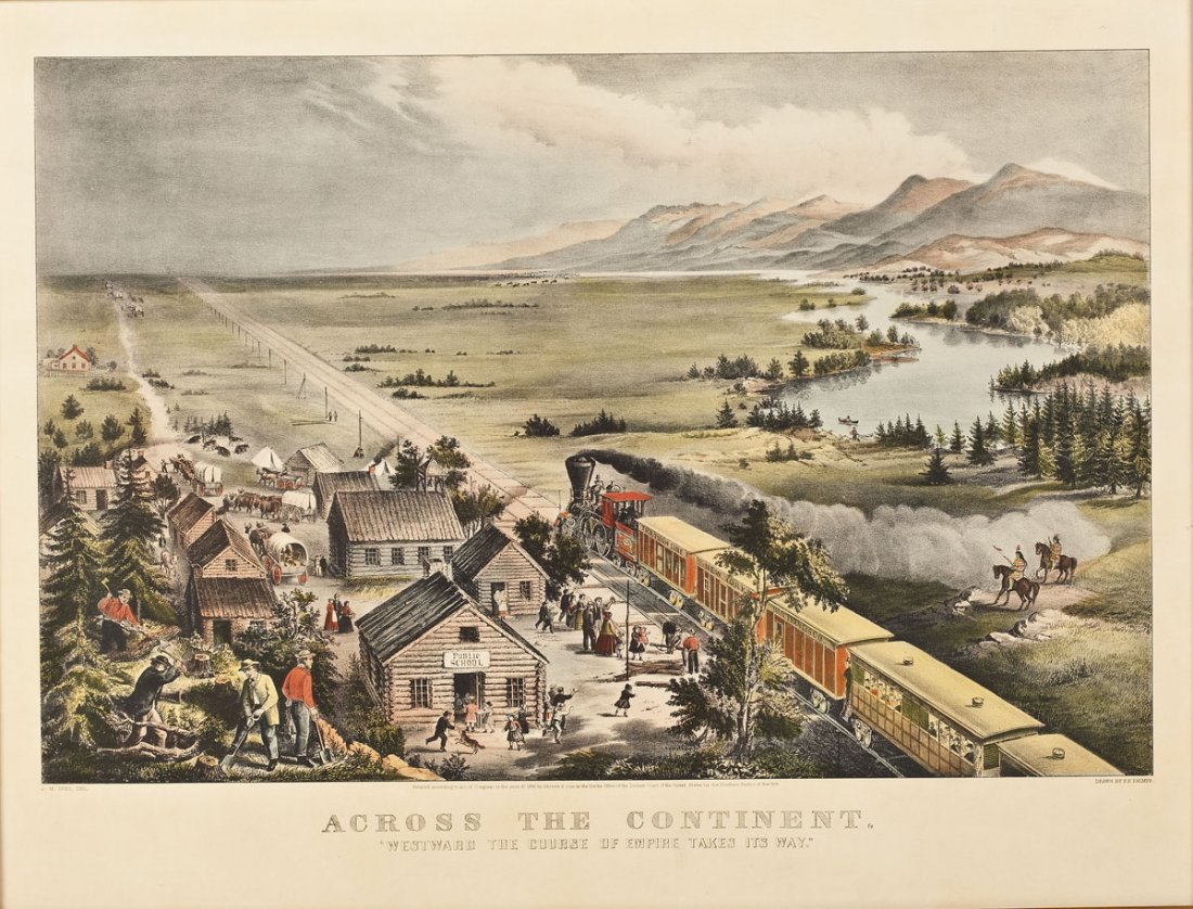 1868 Currier & Ives Across the Continent Print