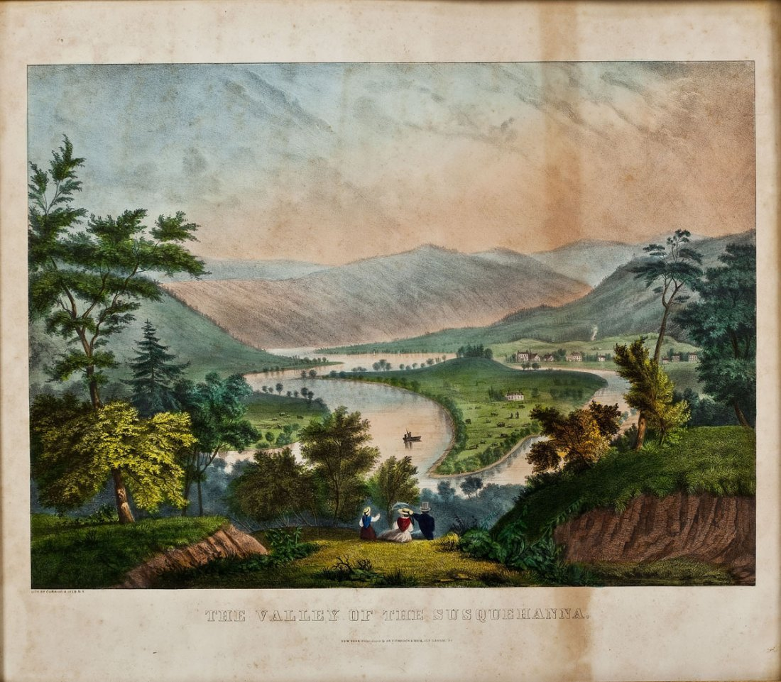 Currier & Ives Valley of the Susquehanna Print