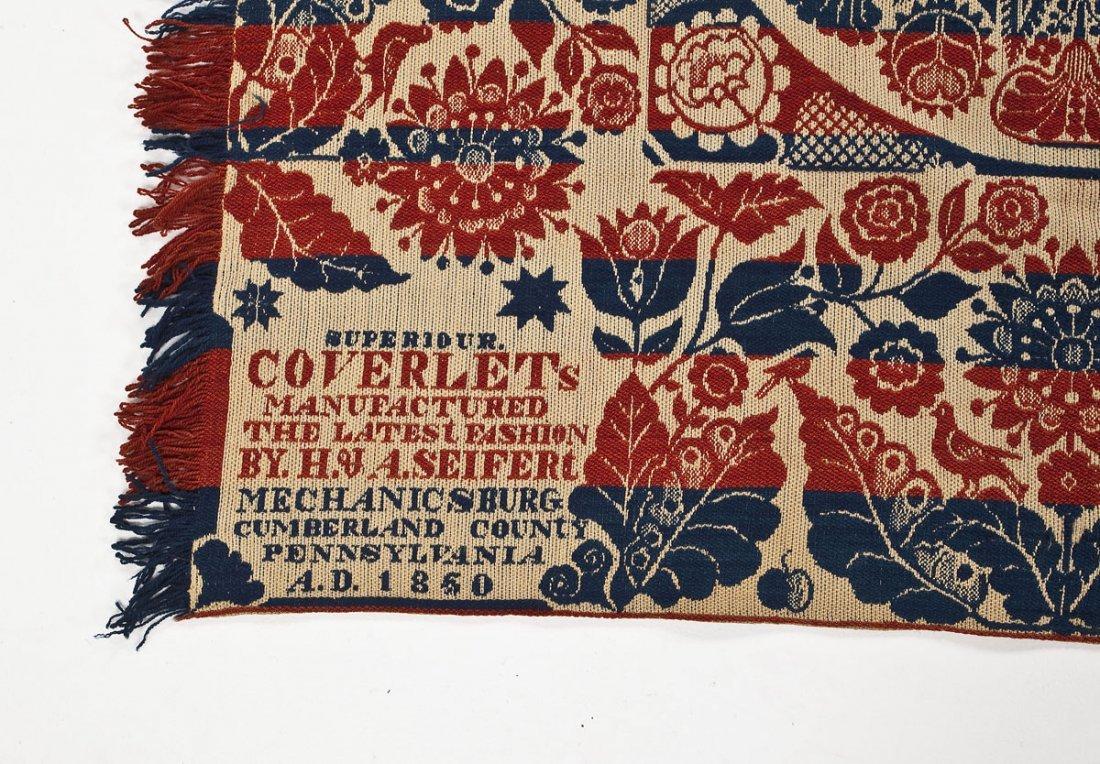 1850 H.& A. Seifert Mechanicsburg Coverlet - 2