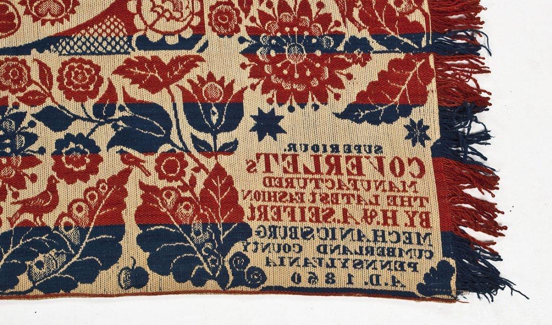 1850 H.& A. Seifert Mechanicsburg Coverlet - 3
