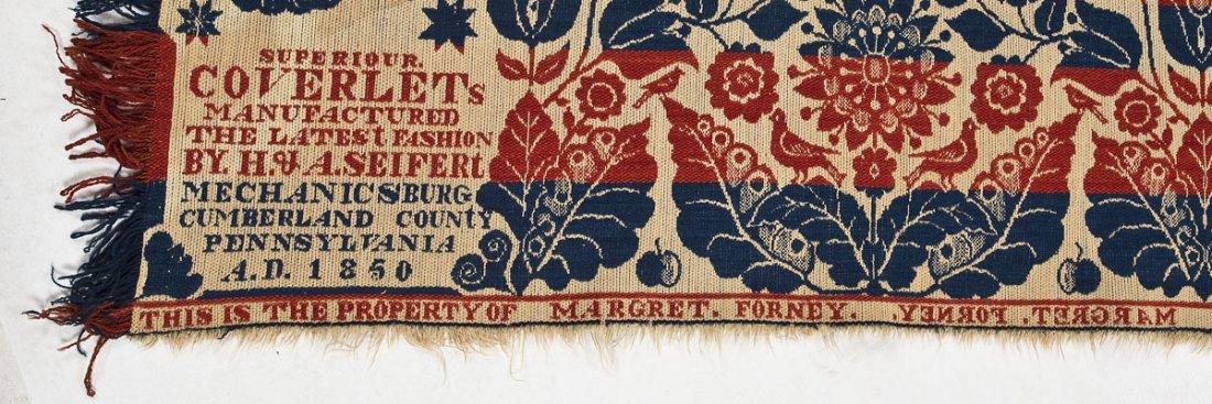 1850 H.& A. Seifert Mechanicsburg Coverlet - 5
