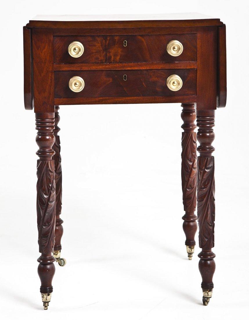 Federal Mahogany 2 Drawer Sewing Table
