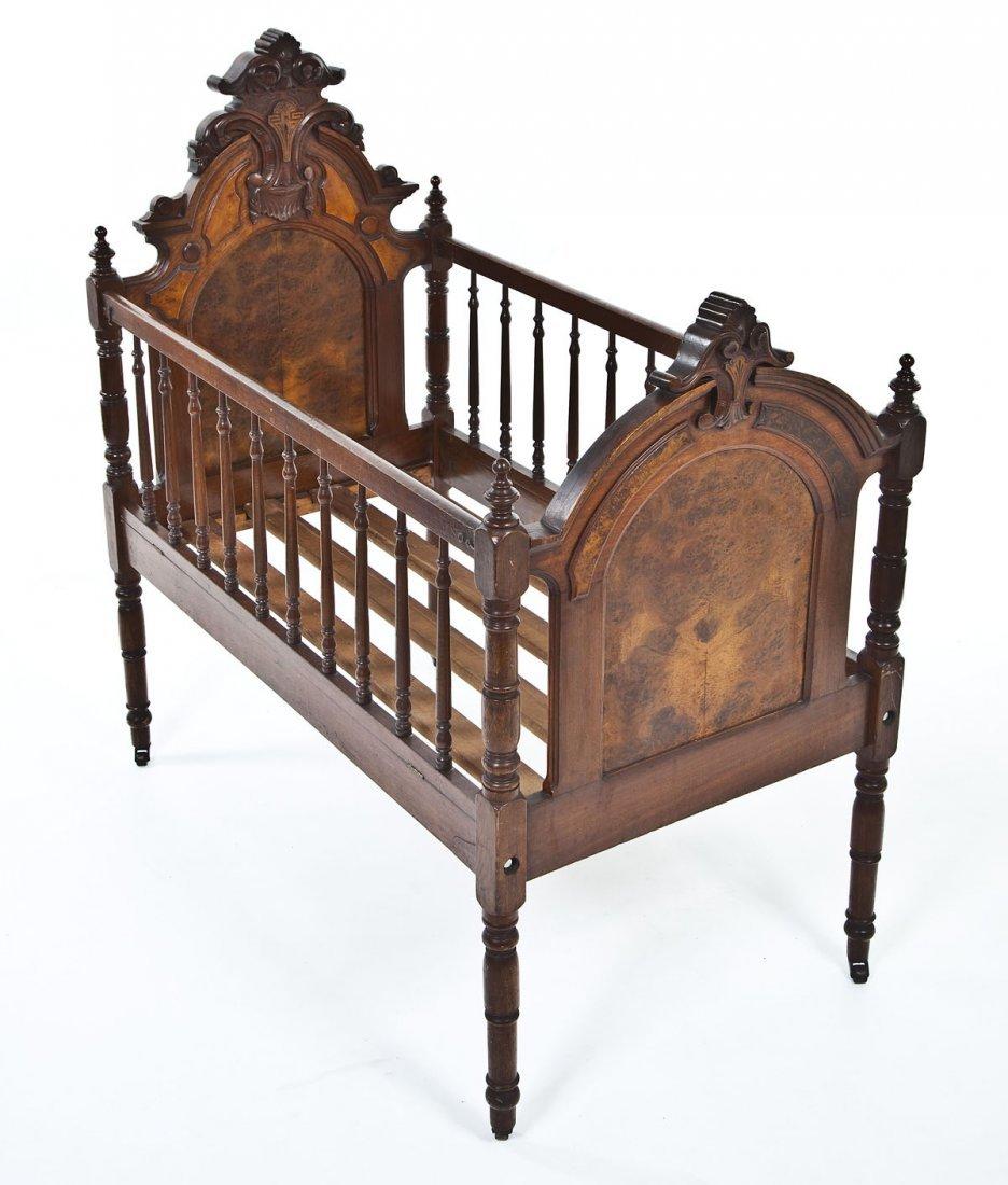Renaissance Revival Victorian Crib