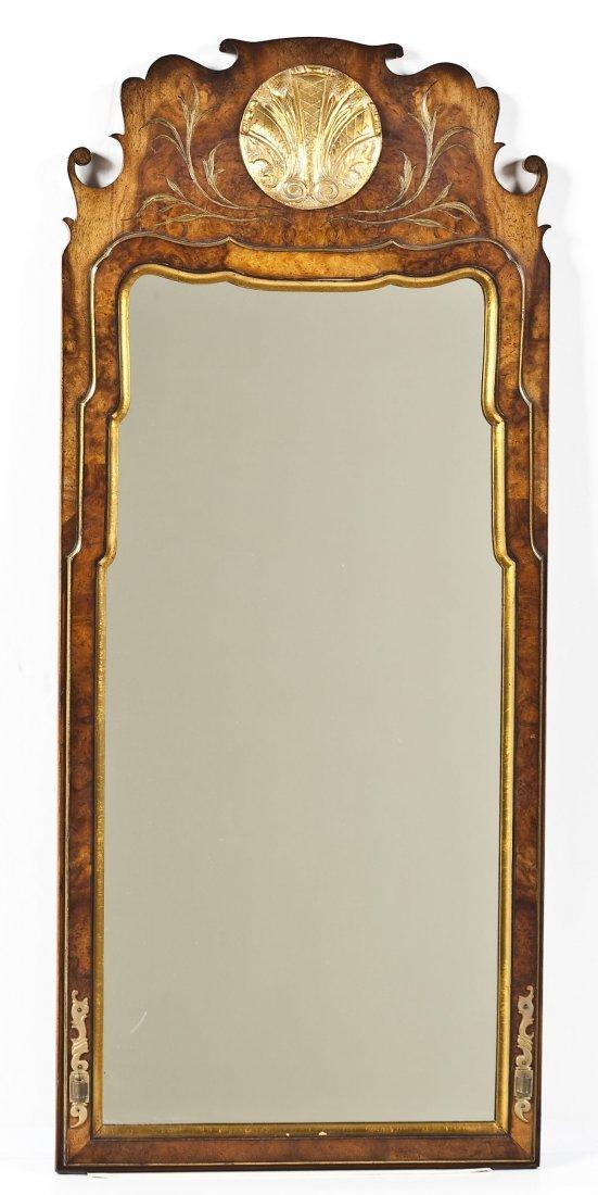 Thompson Queen Anne Style Burl Walnut Mirror