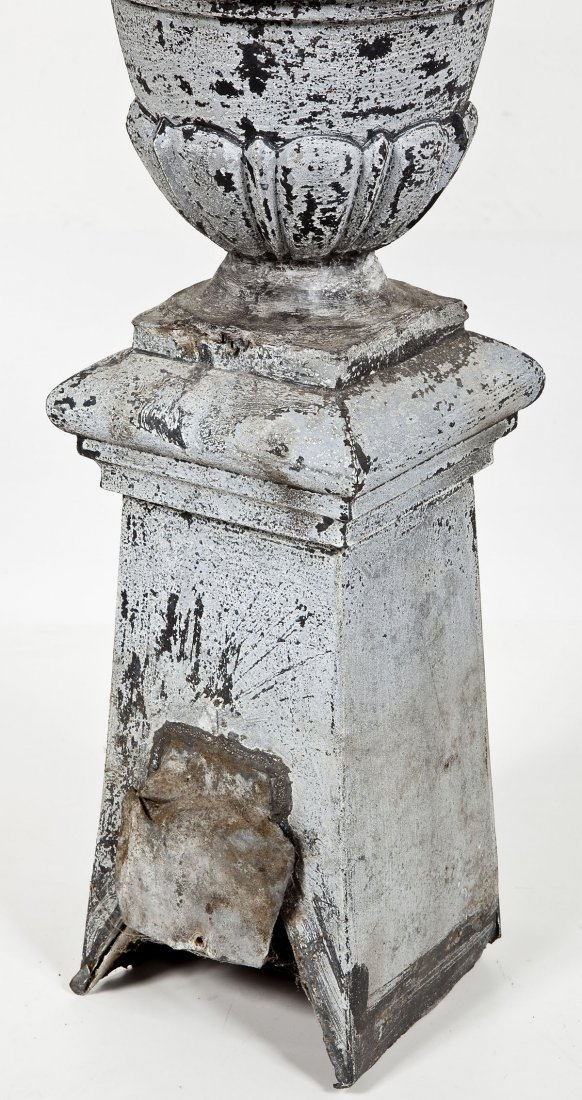 3 Antique French Zinc Roof Finials - 6
