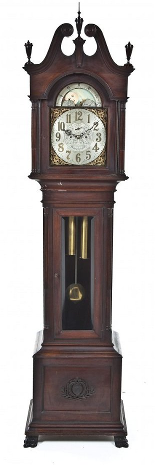Bailey Banks Biddle Grandfather Clock Nov 20 2013 Kingston Auction House In De