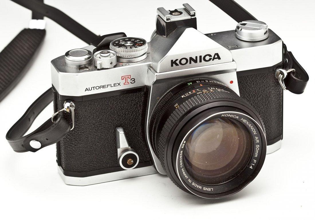 Konica Autoreflex T3 Camera with Konica Case