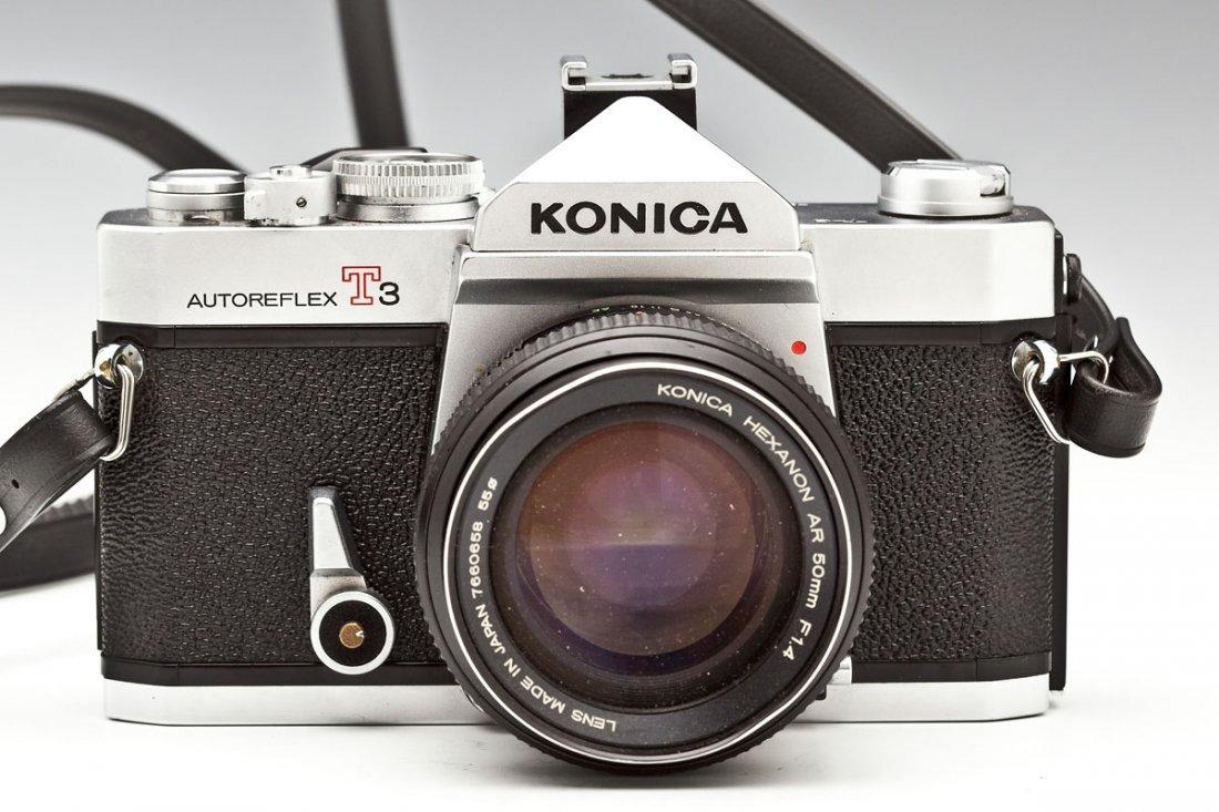 Konica Autoreflex T3 Camera with Konica Case - 2