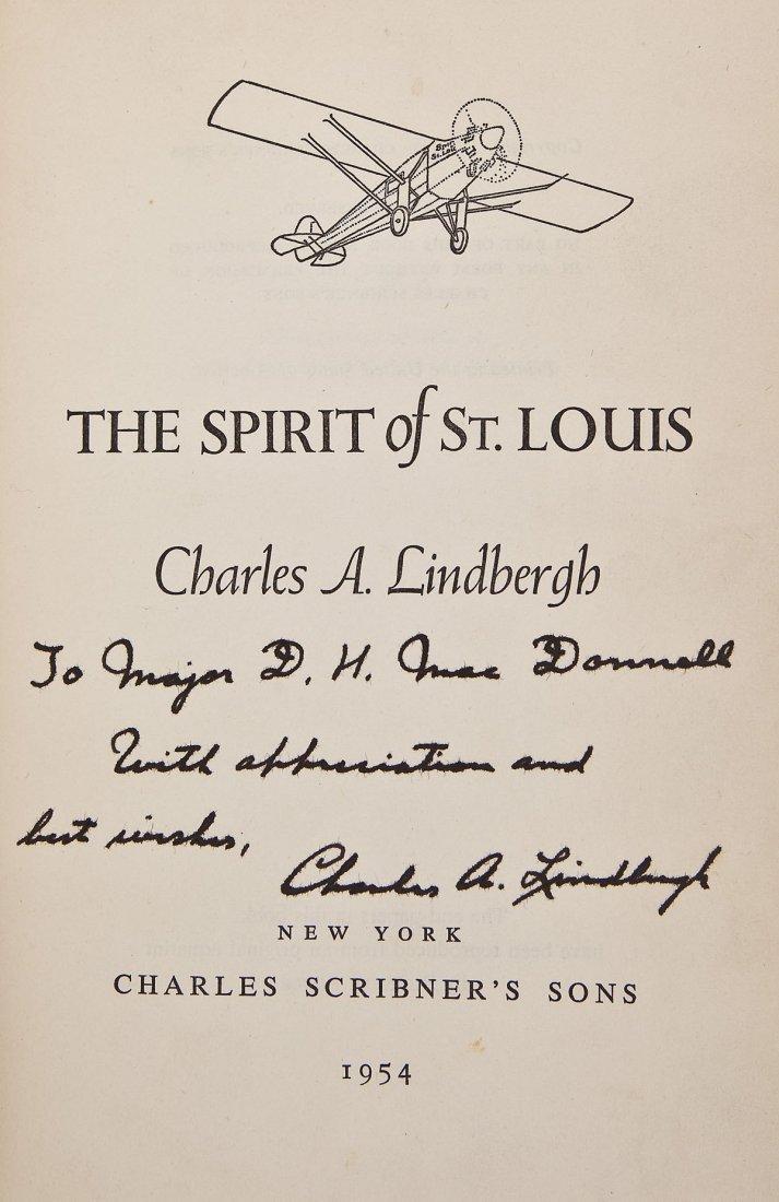 Charles Lindbergh Signed Book Spirit of St. Louis
