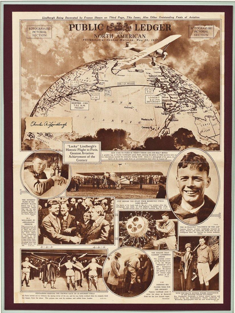 Charles Lindbergh Cut Signature & Public Ledger