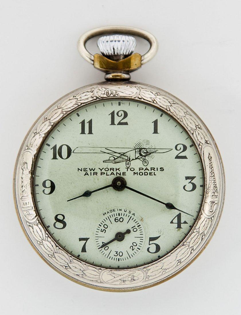 Charles Lindbergh Pocket Watch & Fob - 4