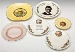 6 Charles Lindbergh Commemorative Dishes