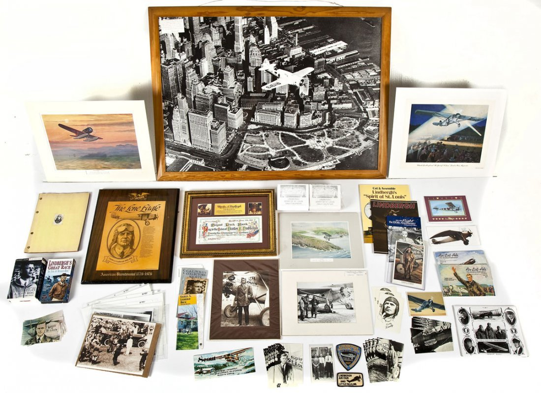 Large Lot of Charles Lindbergh Memorabilia