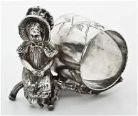 Victorian Kate Greenaway Napkin Ring