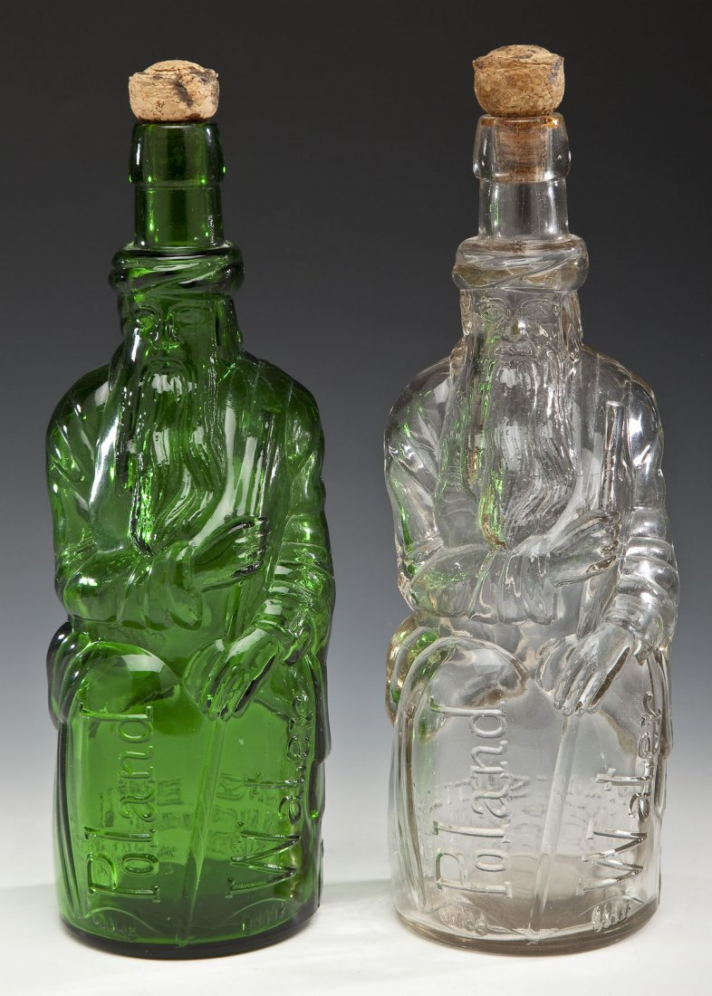 2 Poland Water Fac-Simile Moses Bottles