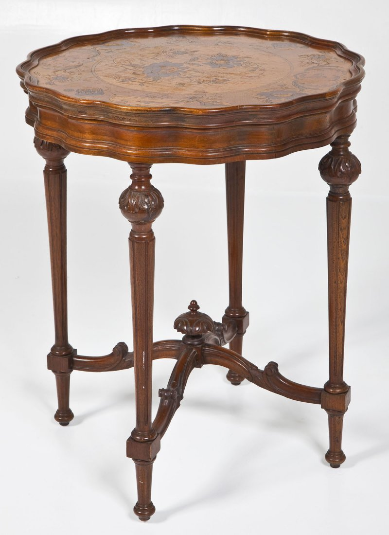 Continental Inlaid Table